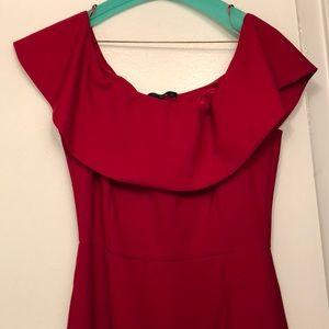 Off the shoulder red dress - size M